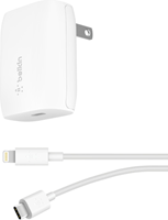 Belkin BoostUp Wall Charger USB-C 20W w/USB-C to Lightning Cable White