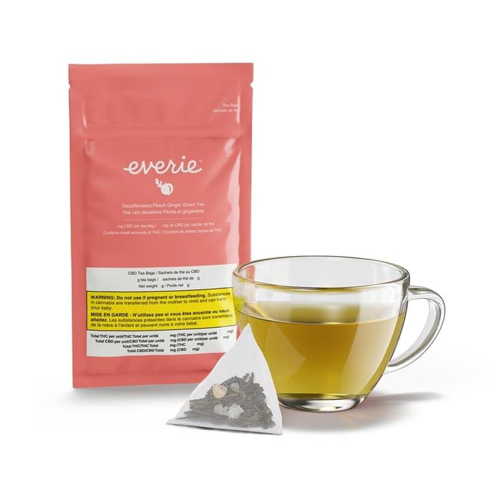Peach Ginger Green CBD Tea - Everie - Tea