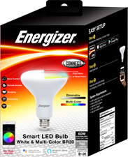 Energizer Connect BR30 Smart Bright LED Flood Light Bulb