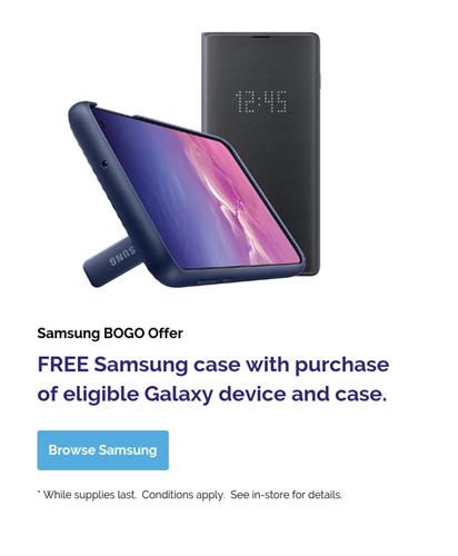 Samsung BOGO Case Offer
