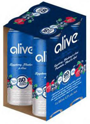 Independent Distillers Canada Alive Raspberry Blueberry & Acai 1200ml