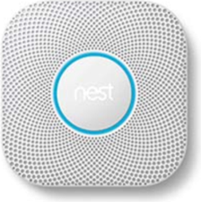 Google Nest Protect White Smart Home 2nd Gen Smoke Alarm (Wired)