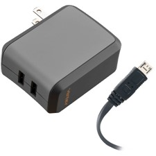 Ventev 24w Wallport R2240 Dual Usb A Wall Charger And Usb A To Micro Cable 3.3ft