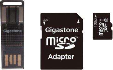 Gigastone 4IN1 128GB Prime microSD Card C10 U1