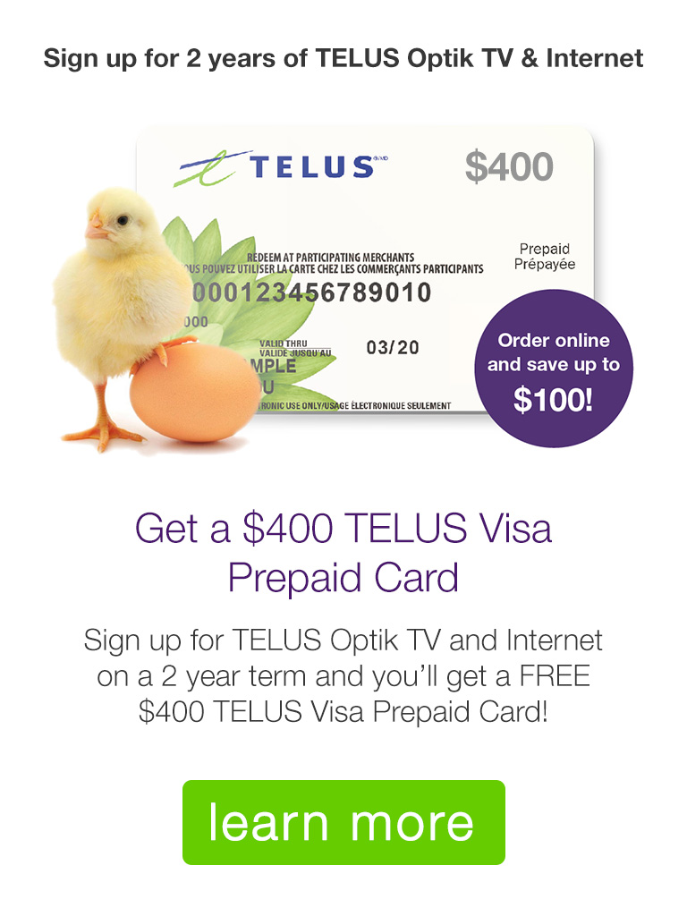 Get a $400 TELUS Visa Gift Card