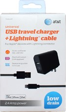AT&T USB Travel Charger with Lightning Cable