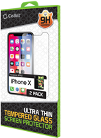 iPhone X Premium Tempered Glass Screen Protector - 2 Pack