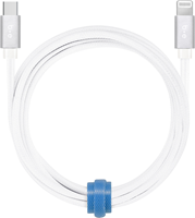 Blu Element - Braided Charge/Sync USB-C to Lightning 6ft - White