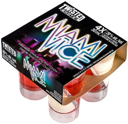 Independent Distillers Canada Miami Vice Twisted Shotz 4 x 30ml