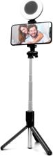 Helix Selfie Stick with LED Ring Light Black