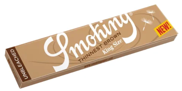 Smoking, Thinnest Brown King Size Rolling Papers