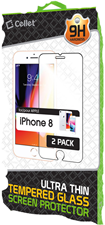 Cellet iPhone 8/7/6s/6 Premium Tempered Glass Screen Protector - 2 Pack