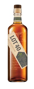 Corby Spirit & Wine Lot 40 Peated Quarter Cask Canadian Whisky 750ml