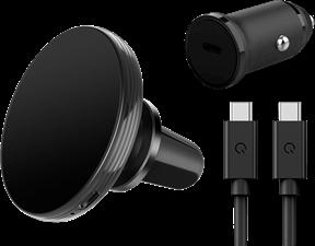 Qmadix - Magnetic Vent Mount Wireless Charging Kit 15w - Black