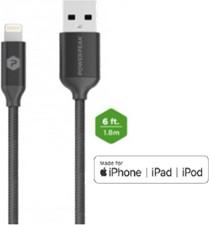 PowerPeak 6ft. Metallic Lightning USB Charge & Sync Cable