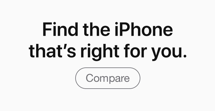 Find the iPhone that's right for you