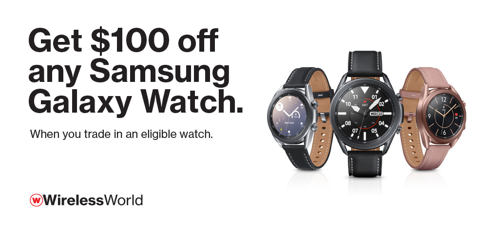 $100 off Samsung Watch with trade