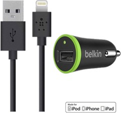 Belkin BOOSTUP Car Charger with Lightning Charge/Sync Cable