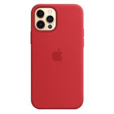 Apple - iPhone 12/12 Pro Silicone Case with MagSafe