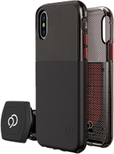 Nimbus9 iPhone X Ghost Case with Rotating Magnetic Wall And Vent Mounts