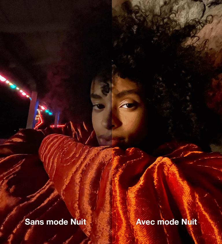 Image de comparaison en basse lumière