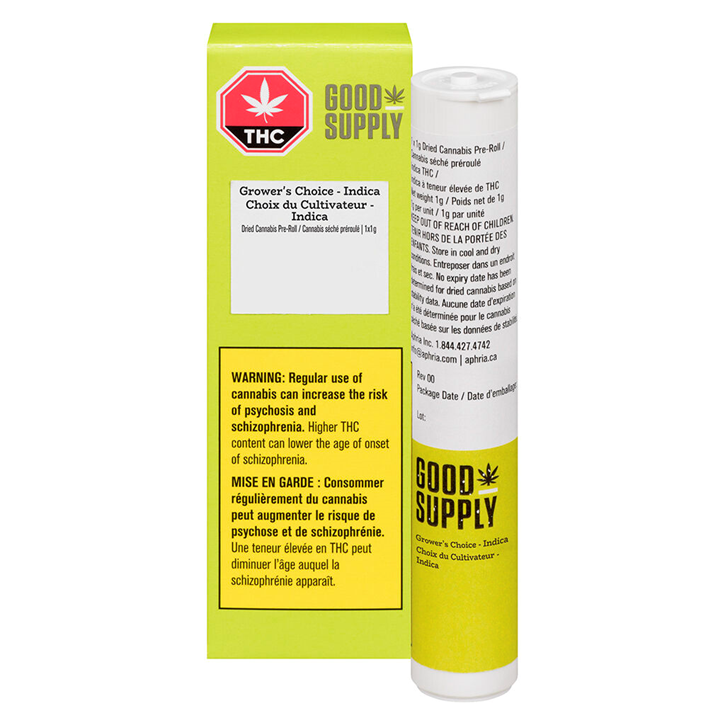 Grower's Choice Indica - Good Supply - Pre-Roll