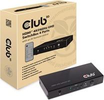 Club3D -  HDMI 4K60HZ 2.0 UHD Switchbox 4 Pots Black
