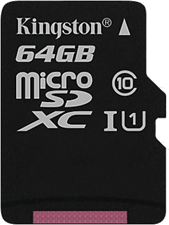 Kingston Canvas Select 64GB microSD Card w/ Adapter