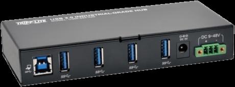 Tripp Lite 4-Port Rugged Industrial USB 3.0 Hub with 15KV ESD