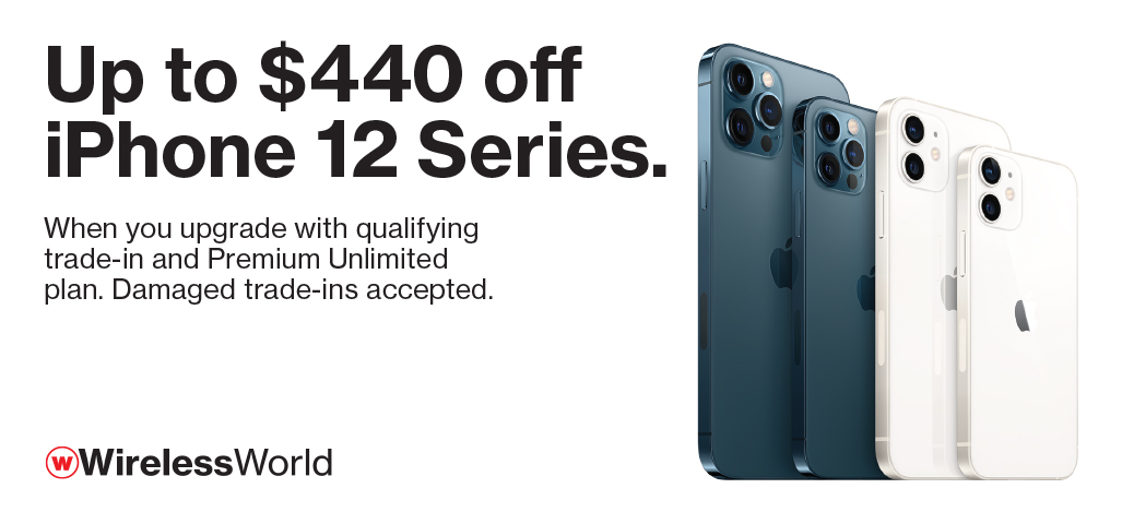Up to $440 off iPhone 12 Series with upgrade