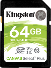 Kingston SDXC Class 10 Flash Memory Card