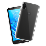 Case-Mate Moto E6 Protection Pack Tough Clear Case w/ Glass Screen Protector - Clear