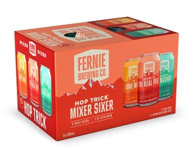 Set The Bar Fernie Brewing Hop Trick Mixer Sixer 2130ml