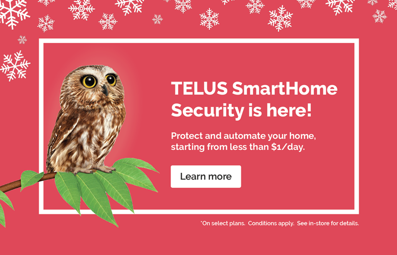 TELUS SmartHome Security at Tom Harris Cellular