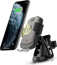 PowerPeak Wireless Fast Charging Auto Clamping Car Windshield Dashboard & Air Vent Phone Holder