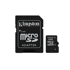 Kingston Micro SD Secure Digital Card w/ Adapter
