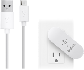 Belkin Dual-Port Swivel Wall Charger & 4' microUSB Cable