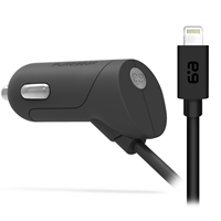 PureGear Corded Lightning Car Charger 2.4a (12w)