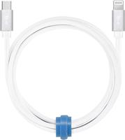 Blu Element - Braided Charge/Sync USB-C to Lightning 4ft - White
