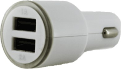 Muvit 4.2A Dual USB Car Charger - White