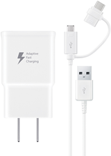 Samsung DG930 Fast Charge Wall Charger with microUSB to USB Type-C Converter Cable