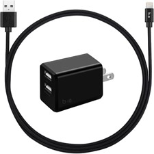 OtterBox Wireless Pad 10w With Usb A 18w Wall Charger And Usb A To Micro Usb Cable - Black