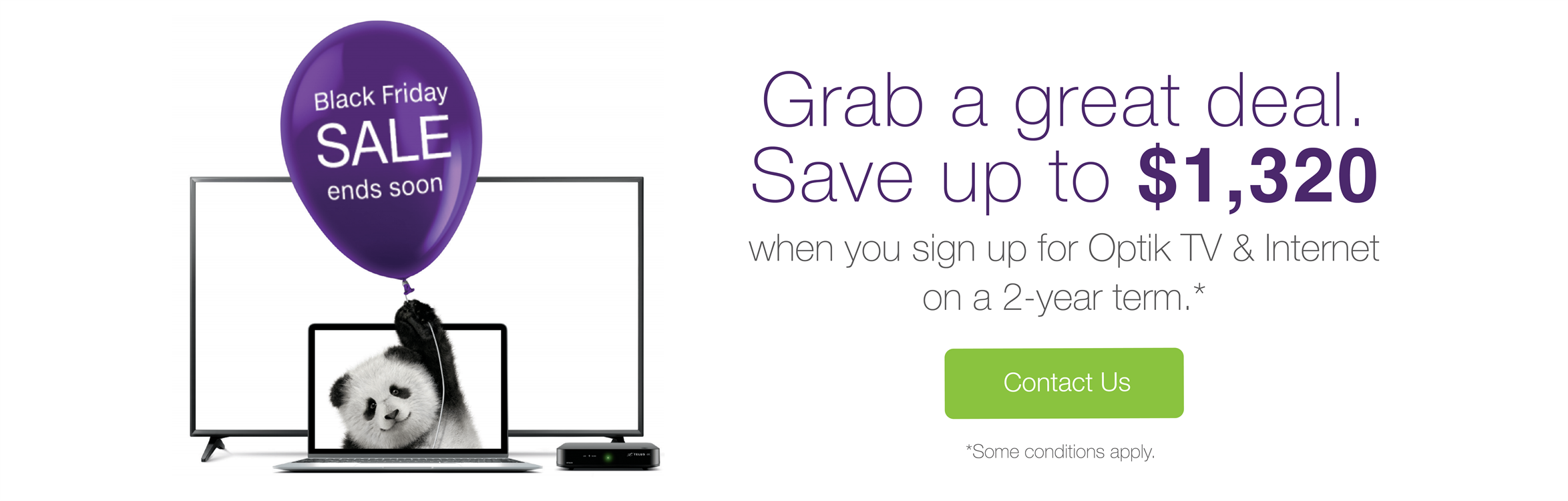 Black Friday TELUS Optik TV and Internet