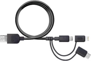 PureGear - 3-in-1 4' Charge-sync Cord Lightning, microUSB,& USB Type-C Devices
