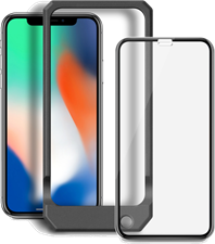 Blu Element iPhone XS Max 3D Curved Glass Case Installation Kit