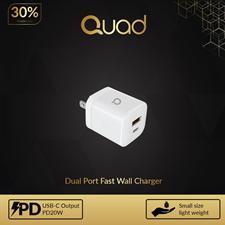 Quad Mini Home Adapter PD+QC 20W PD White