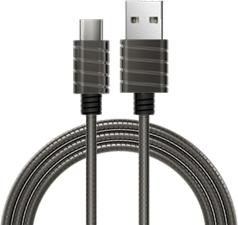 iWalk 4' Metallic Stainless Steel USB-C Cable