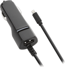 KEY 3.4A Lightning Car Charger with additional USB Port