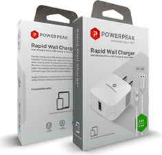 PowerPeak Micro Rapid2.4 Wall Charger