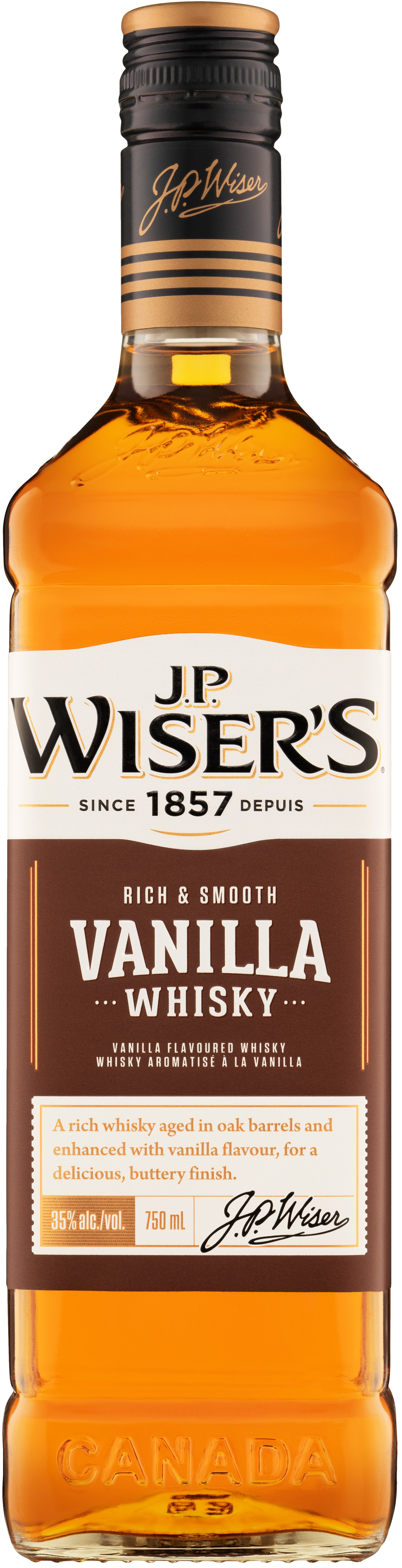 J.P. Wiser's Vanilla Whisky 750ml